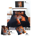 Golden Tiger Single Bed Quilt Doona Cover Set - The Bowerbirds Nest of Treasures