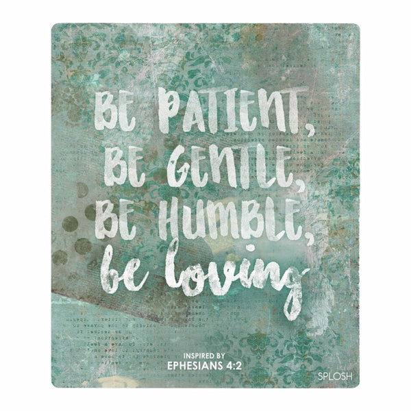 Splosh Have Faith Be Patient Verse Inspirational Plaque Home Wall Decor - The Bowerbirds Nest of Treasures
