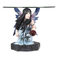 Anne Stokes Rose Fairy Table With Glass Top - The Bowerbirds Nest of Treasures