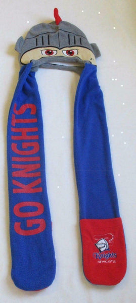 Newcastle Knights Kids Mascot Supporters Beanie Hat Winter Scarf - The Bowerbirds Nest of Treasures