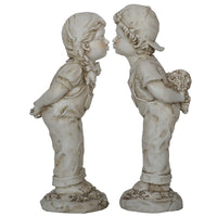 Boy & Girl Kissing Home or Garden Statue - The Bowerbirds Nest of Treasures