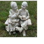 Grandma and Grandpa on Bench Garden Statue - the-bowerbirds-nest-of-treasures
