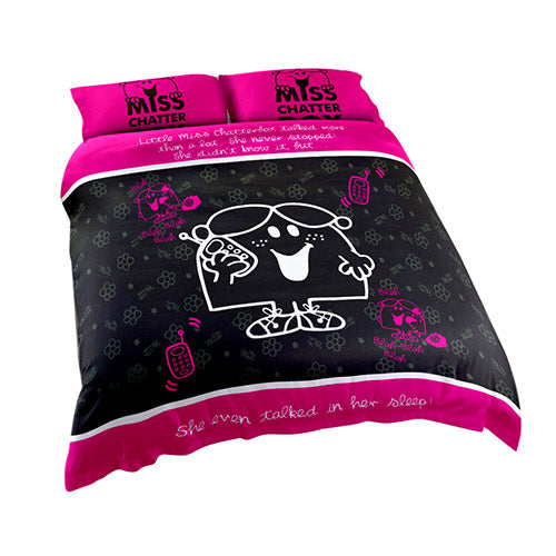 Little Miss Chatterbox King Bed Quilt Cover Set - The Bowerbirds Nest of Treasures