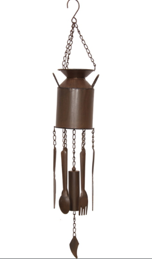 Cast Iron Milk Can Wind Chime The Bowerbirds Nest of Treasures Warragamba
