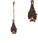 Hanging BAT on Rope Garden Ornament Statue