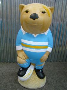GOLD COAST TITANS NRL Footy Wombat Concrete Garden Statue - the-bowerbirds-nest-of-treasures