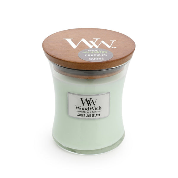 Sweet Lime & Gelato Woodwick Candle Medium - The Bowerbirds Nest of Treasures
