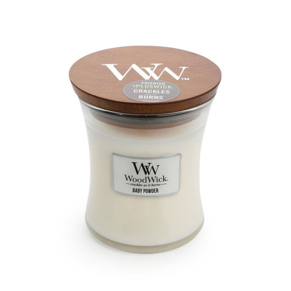 Baby Powder Woodwick Candle Medium - The Bowerbirds Nest of Treasures