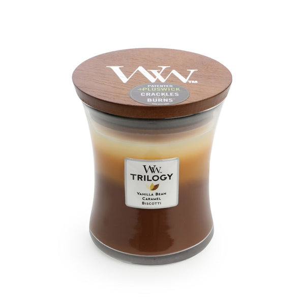 Cafe Sweets WoodWick Trilogy Candle - Medium - The Bowerbirds Nest of Treasures