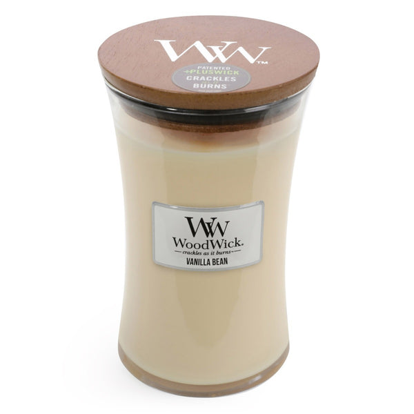Woodwick Vanilla Bean Candle ~ Large - the-bowerbirds-nest-of-treasures