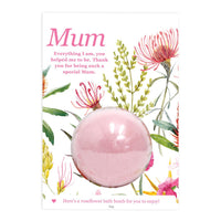Mum Splosh Bath Bomb Gift Card The Bowerbirds Nest of Treasures Warragamba