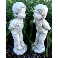 Boy & Girl Kissing Home or Garden Statue - the-bowerbirds-nest-of-treasures