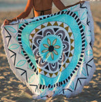 Round Printed Cancun Beach Towel - The Bowerbirds Nest of Treasures