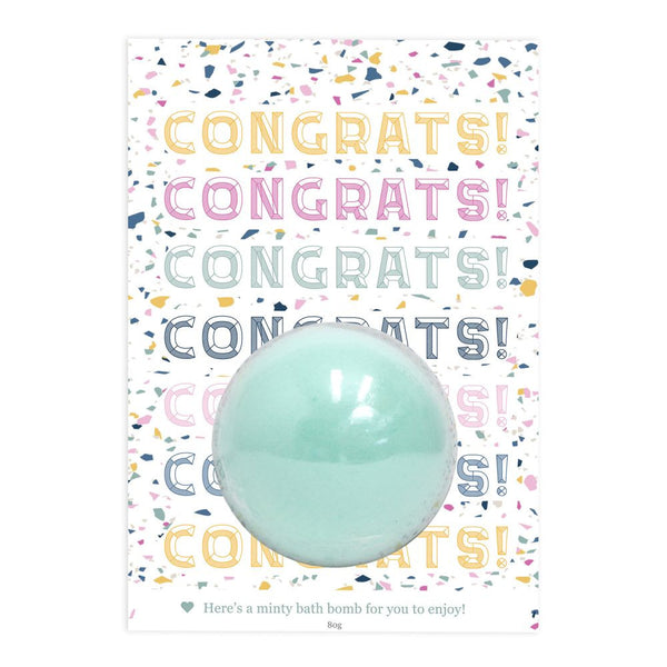 Splosh Congrats Bath Bomb Gift Card The Bowerbirds Nest of Treasures