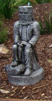 NED KELLY SITTING Concrete Garden Statue ~ PICKUP ONLY - The Bowerbirds Nest of Treasures