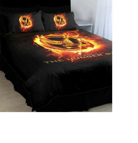 THE HUNGER GAMES Queen Bed Doona Duvet Quilt Cover Set