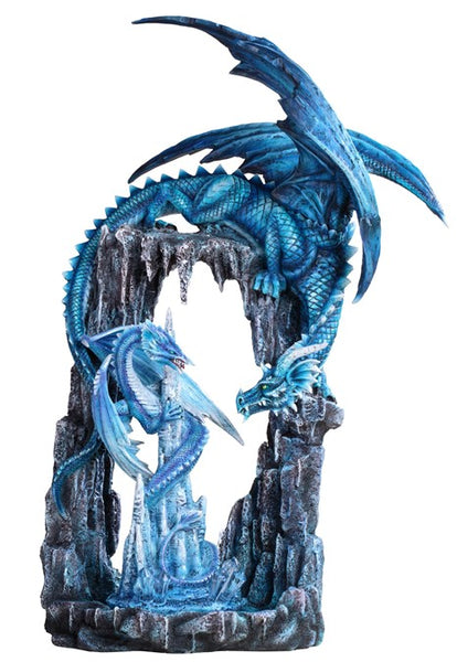 Large Blue Chandelier Dragon Cave Statue