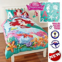 DISNEY THE LITTLE MERMAID WATERMELON SCENTED Queen Bed Quilt Doona Duvet Cover - the-bowerbirds-nest-of-treasures
