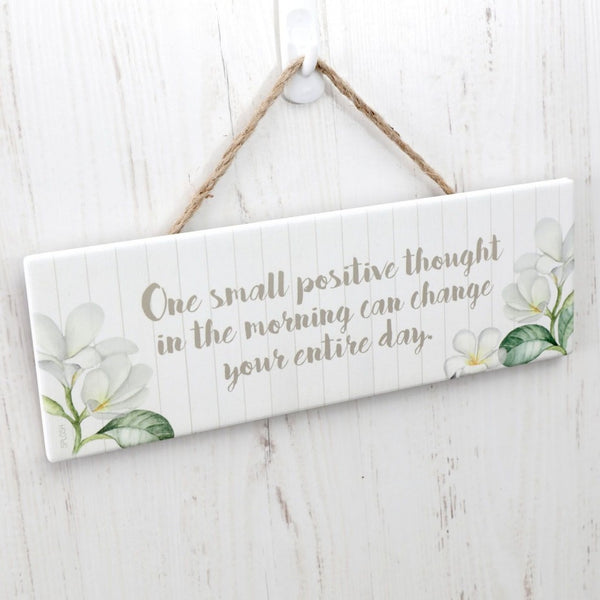 Splosh Pacific Breeze Verse POSITIVE THOUGHTS Inspirational Hanging Sign - The Bowerbirds Nest of Treasures