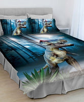 T-Rex Dinosaur Single Bed Quilt Cover Set - The Bowerbirds Nest of Treasures