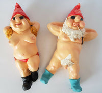 Rude Topless Sunbaking Garden Gnome Statue - The Bowerbirds Nest of Treasures