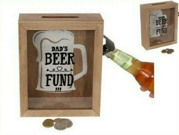 Dads Beer Fund Money Change Box - The Bowerbirds Nest of Treasures