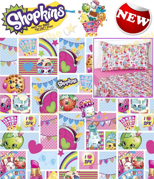 Shopkins Fitted Bed Sheet Set - The Bowerbirds Nest of Treasures