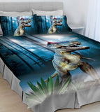 T-Rex Dinosaur King Bed Quilt Cover Set - The Bowerbirds Nest of Treasures