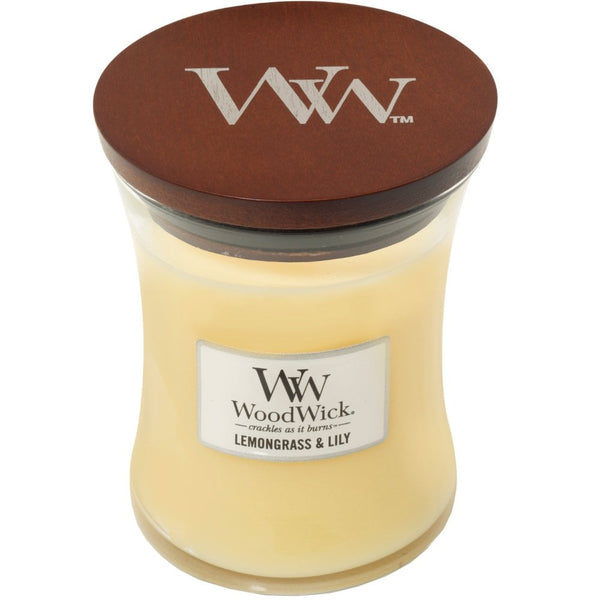 Lemongrass & Lilly Woodwick Candle Medium - The Bowerbirds Nest of Treasures