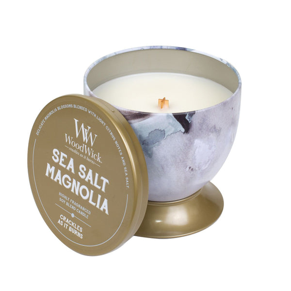 Sea Salt Magnolia Woodwick Artisan Gallerie Candle - the-bowerbirds-nest-of-treasures