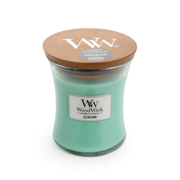 Clean Rain Woodwick Candle Medium - The Bowerbirds Nest of Treasures