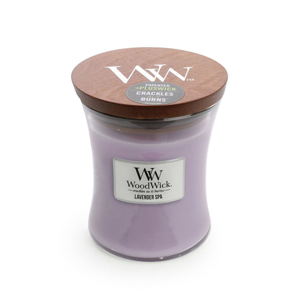 Lavender Spa Woodwick Medium Candle - The Bowerbirds Nest of Treasures