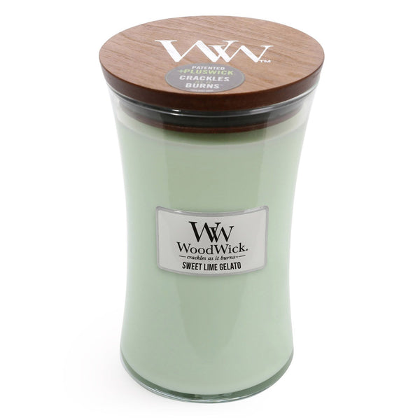 Sweet Lime Gelato Woodwick Candle ~ Large - The Bowerbirds Nest of Treasures
