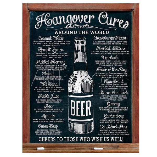 Hangover Cures Around the World Metal Sign Mancave The Bowerbirds Nest of Treasures Warragamba