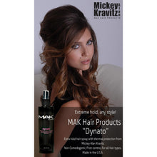 Non Comedogenic hair spray, extra hold. Made in the USA. MAK Hair Products from Mickey Alan Kravitz makhair.com