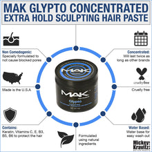 "MAK ""Glypto"" hair paste & ""Dynato"" hair spray pack."