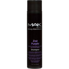 "MAK ""ZOE PURPLE""  Vitamin & Volumizing Color Toning Hair Growth Support Shampoo with Biotin and natural DHT blockers to help stop hair loss and faster hair growth - MAK Hair Products from M"