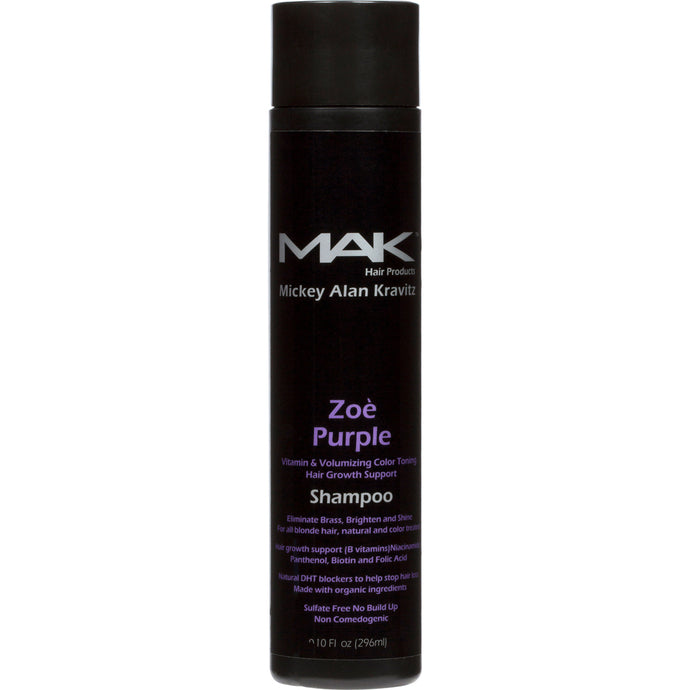 ZOE PURPLE Vitamin & Volumizing Color Toning Shampoo  - MAK Hair Products from Mickey Alan Kravitz