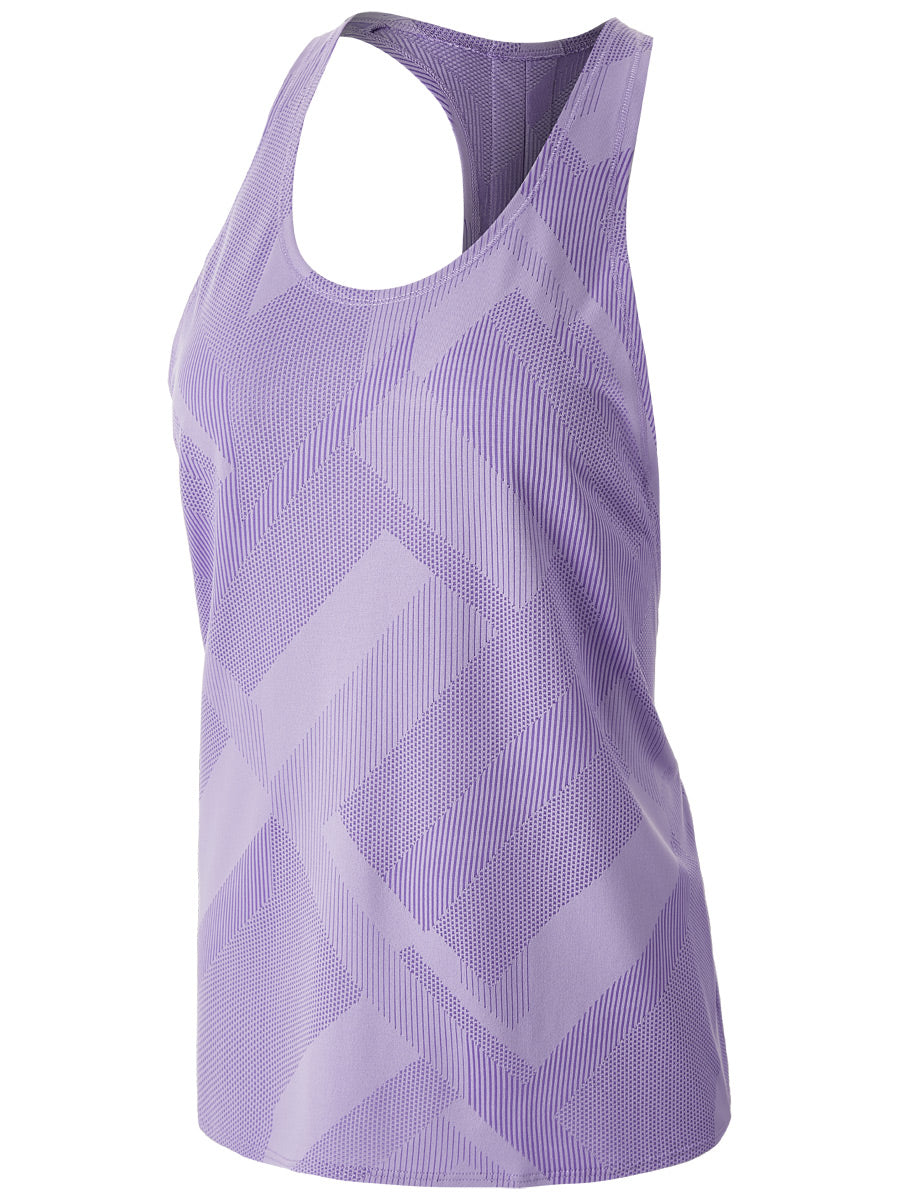 Array Tank (W) - Lilac Eclipse Jacquard