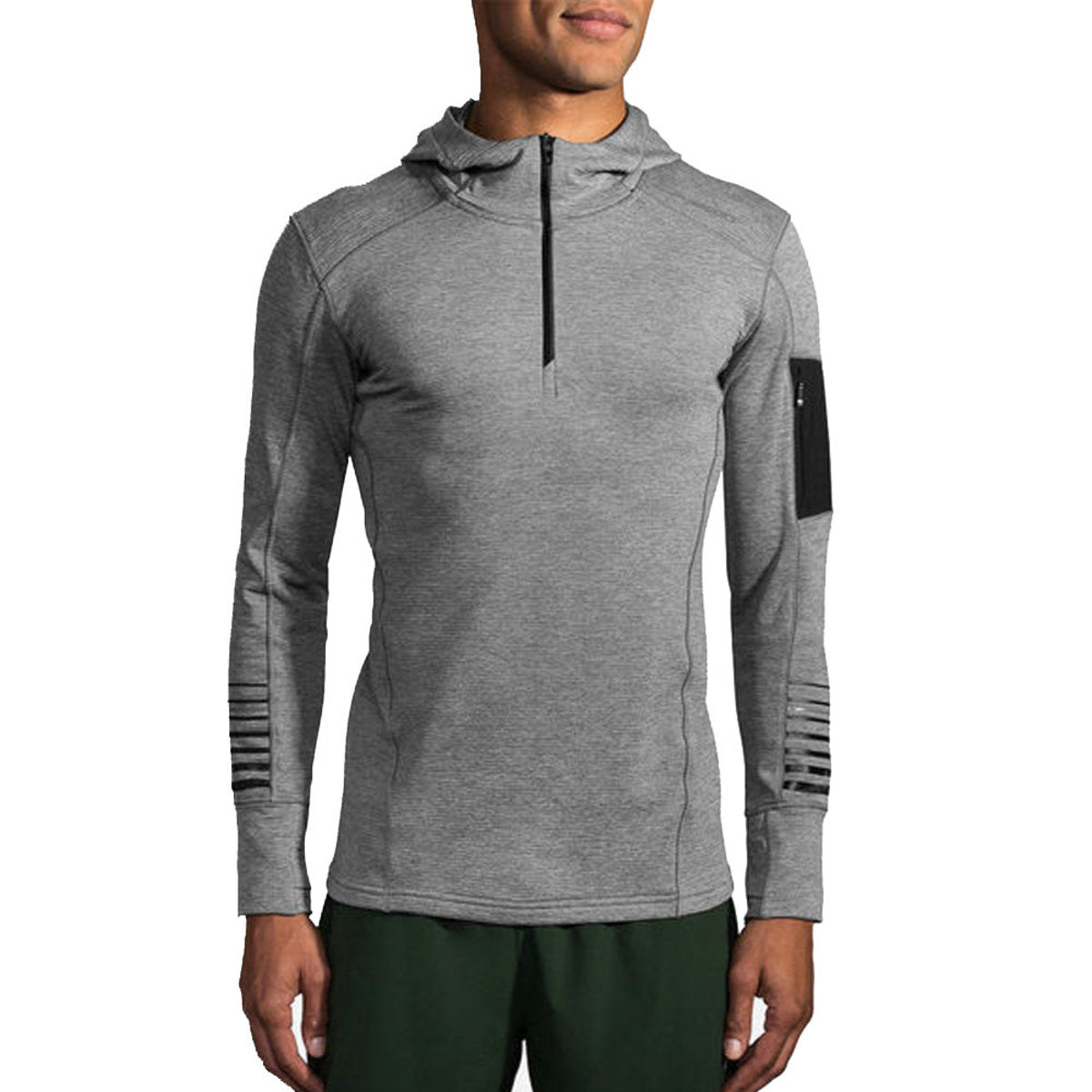 Notch Thermal Hoodie (M) - Heather Sterling