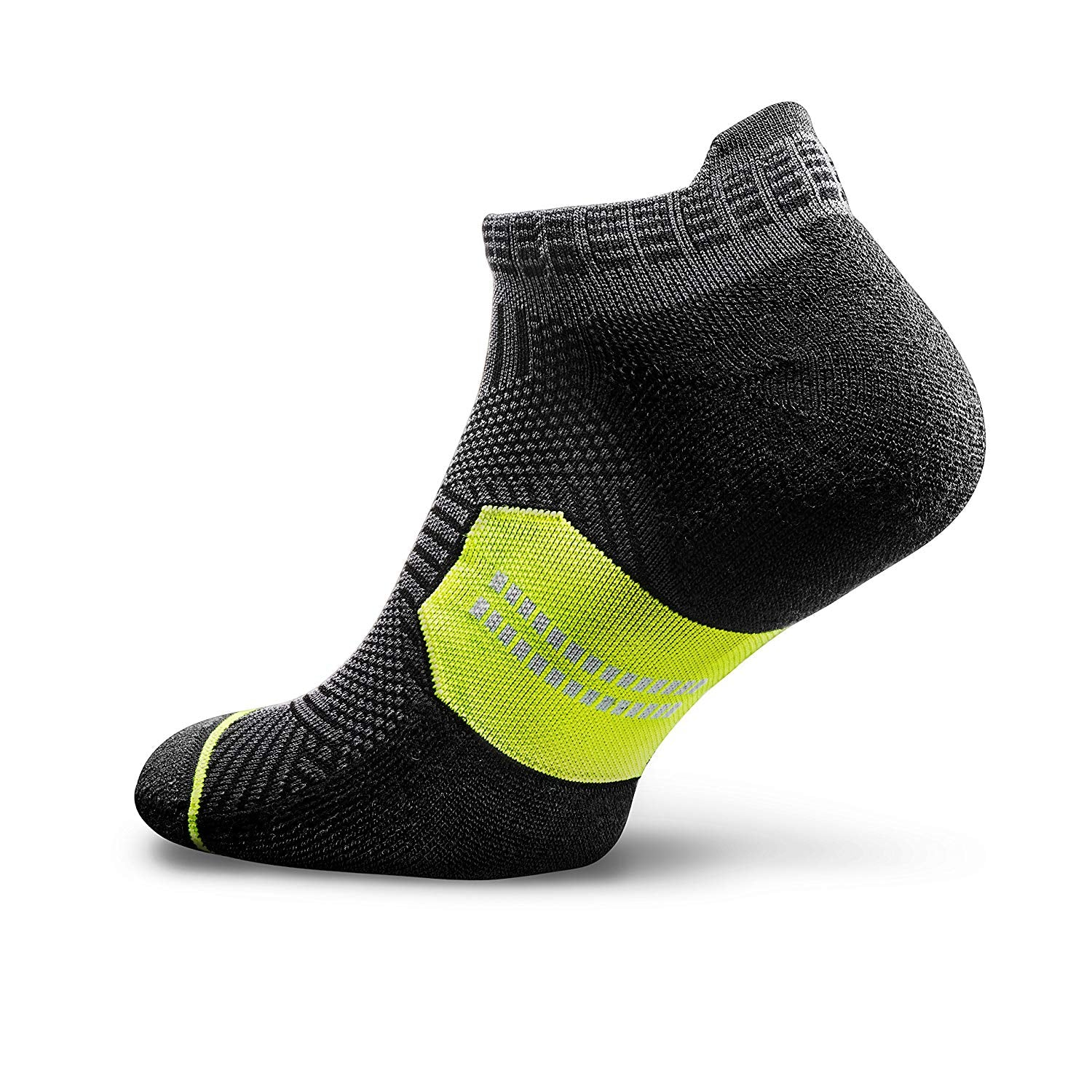 Accelerate New Crescent Socks - Black/Lime