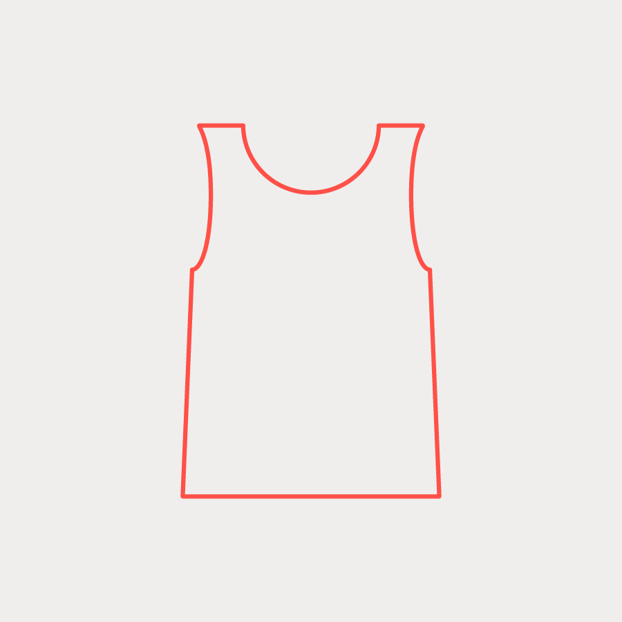 Response Singlet (M) - Hi Res Orange