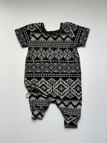 ROMPER - MONOCHROME TRIBAL
