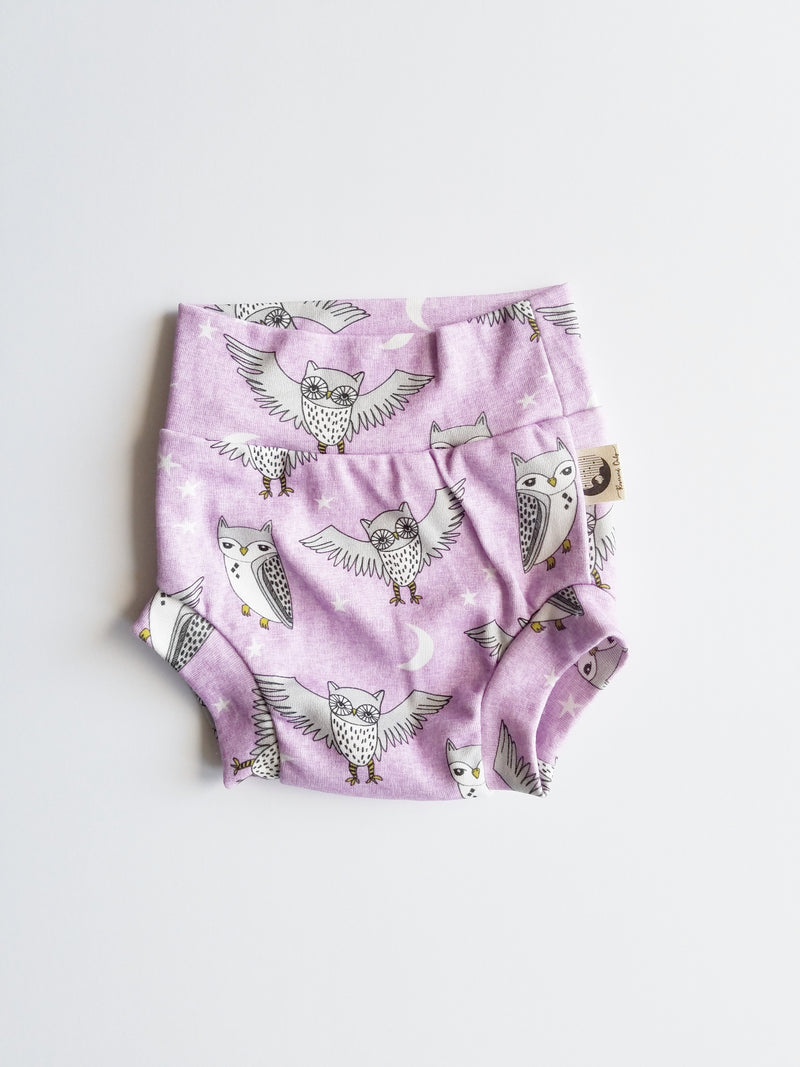 DIAPER COVER | BUMMIES - PURPLE OWLS