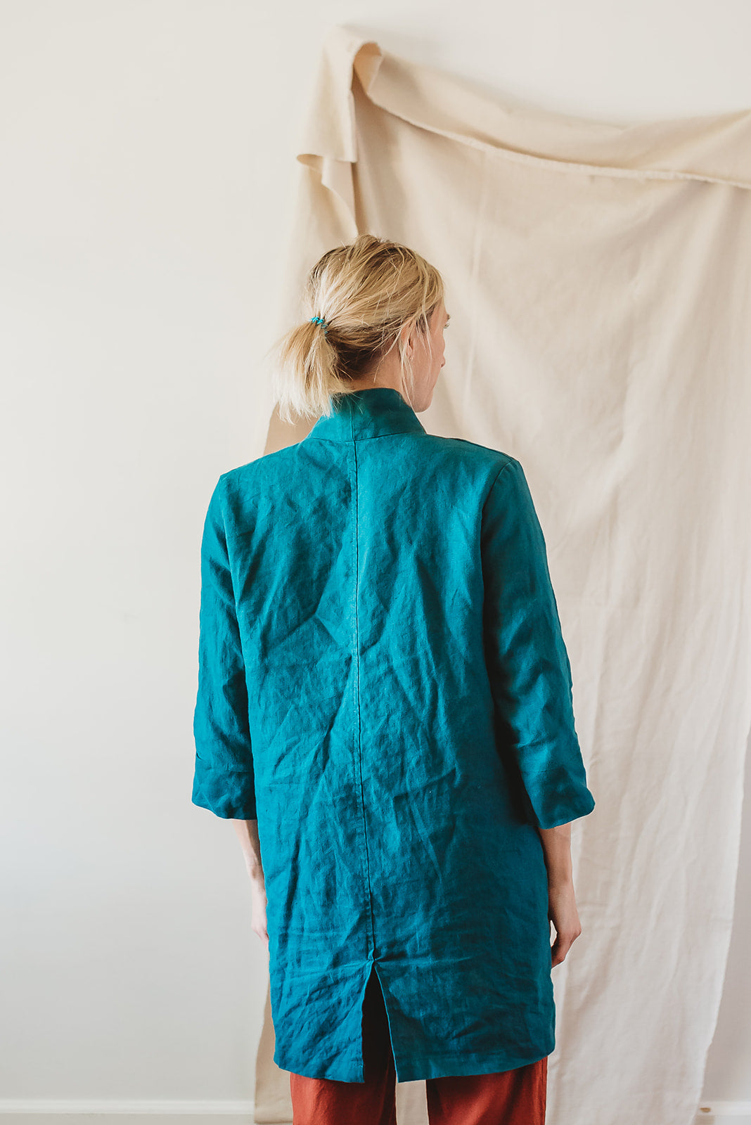 INGRID lab coat, teal