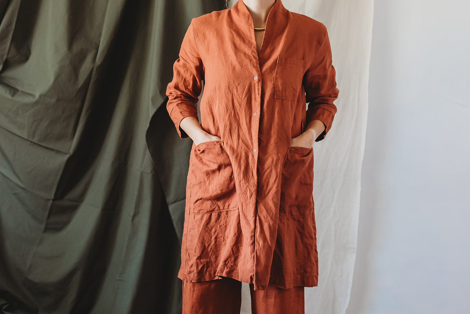 INGRID lab coat, Rust