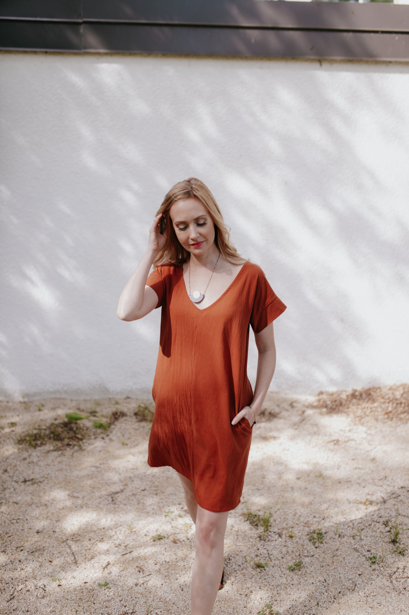 GYDA dress, Copper