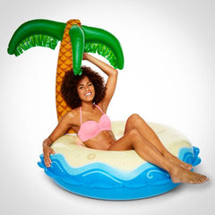 Giant Island Pool Float with Palm Tree