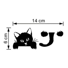 Cat Light Switch Sticker Horizontal Dimensions | Cat Theme | Present Pal