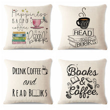 Coffee and Books Handmade Cushion Cover Designs | Present Pal